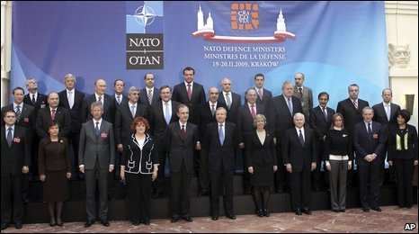 Defence ministers gather for the Nato summit in Krakow