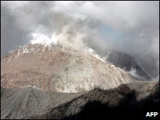 Chaiten volcano in Chile on February 19, 2009