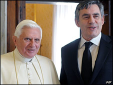 Pope Benedict XVI and Gordon Brown