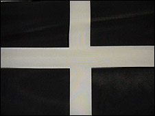 The Cornish St Piran flag