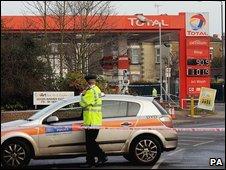 Crime scene in Wealdstone, north-west London