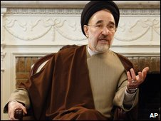Mohammad Khatami in Tehran, 3 Feb, 2009