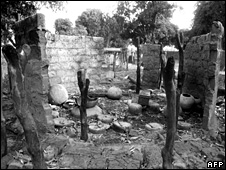 Nadili, a village burned by forces loyal to Hissene Habre during a scorched-earth offensive against the guerrillas in southern Chad (14 December 1984)