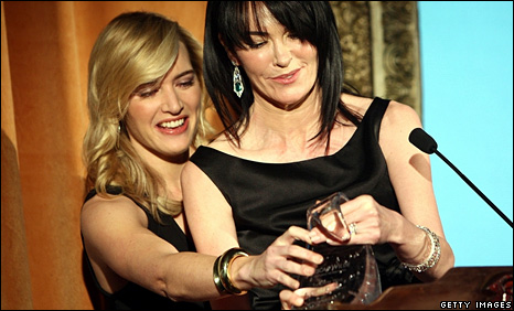 Kate Winslet and Hylda Queally