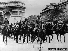 German troops in Paris, 1 Jan 1940