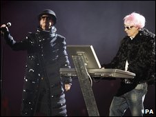 The Pet Shop Boys at the Brits