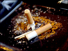 Generic image of cigarettes in ashtray