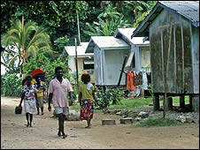 Houses in the Solomon Islands (file photo: 2006)