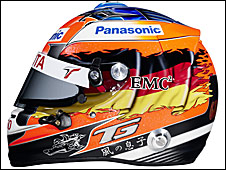 Timo Glock's 2009 helmet