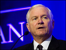 US defence secretary Robert Gates - 20/2/2009
