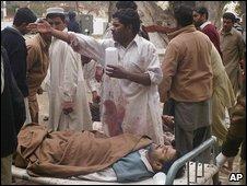 Injured people in Dera Ismail Khan