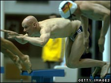 Duncan Goodhew at the Moscow Olympics