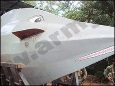 Submarine captured by Sri Lankan trops