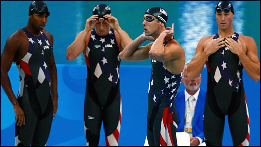 US relay swim team