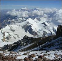 Una vista del Aconcagua.