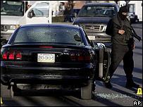 Escena de un crimen en Ciudad Ju�rez