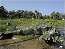 Crashed Tamil Tiger plane