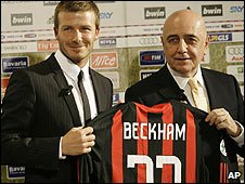 David Beckham and Adriano Gallini