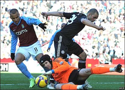 Gabriel Agbonlahor, Aston Villa; Alex, Petr Cech, Chelsea