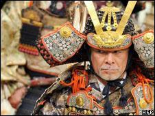 Man in samurai armour