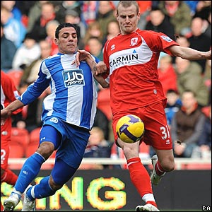 Amr Zaki, Wigan Athletic; David Wheater, Middlesbrough