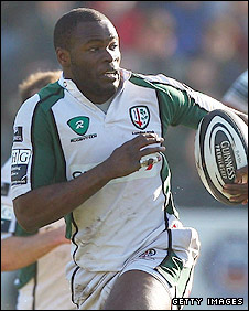 London Irish winger Topsy Ojo