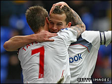 Bolton's Matt Taylor and Kevin Davies
