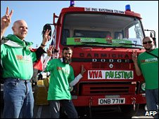 British convoy bound for the Gaza Strip in Morocco, 19 February 2009