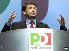 Dario Franceschini addresses Democratic Party (PD) delegates in Rome, Italy, 21 February 2009