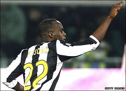 Juventus midfielder Momo Sissoko