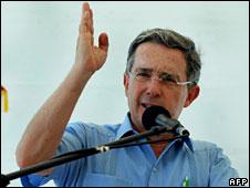Alvaro Uribe (file pic)
