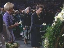 Princess Anne at the ceremony