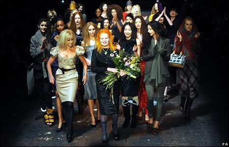 Dame Vivienne Westwood with models