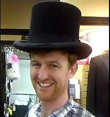 Adam in his top hat