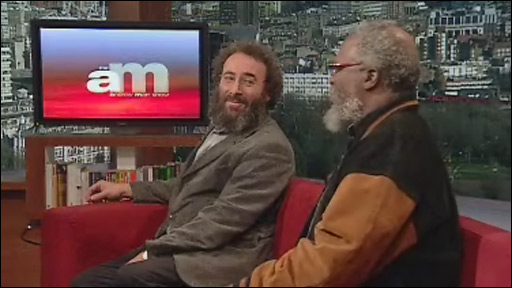Sir Antony Sher and Dr John Kani, discussing the RSC's new production of The Tempest