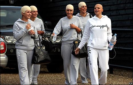 Jade Goody and her bridesmaids