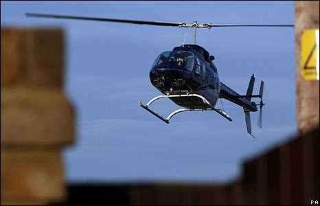 Jade Goody's helicopter