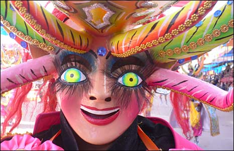 Traditional La Diablada mask