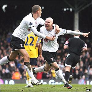 Bobby Zamora, Andy Johnson, Fulham