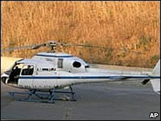 The helicopter used in the 2006 escape (file pic)