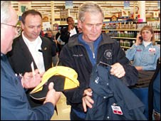 George Bush at hardware store. Picture from Elliott's Hardware