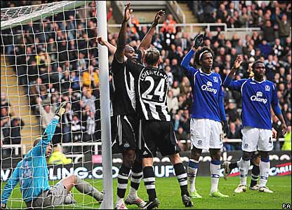 Newcastle United and Everton players appeal