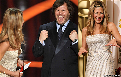 Jennifer Anniston and Jack Black