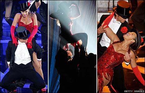 Beyonce and Hugh Jackman