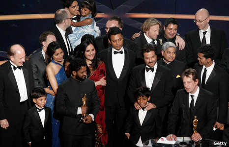 Cast and crew of Slumdog Millionaire