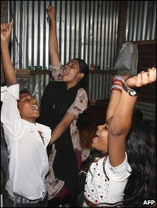 Slumdog celebrations in Mumbai