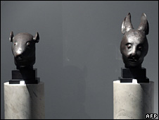 Two 18th Century Chinese bronze statues