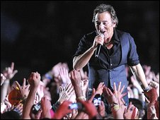 Bruce Springsteen performs at the Super Bowl