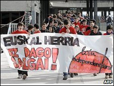 Pro-independence Basque rally, Lejona, 19/02/09
