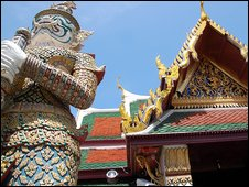 Giant Guardian at the Grand Palace in Bangkok